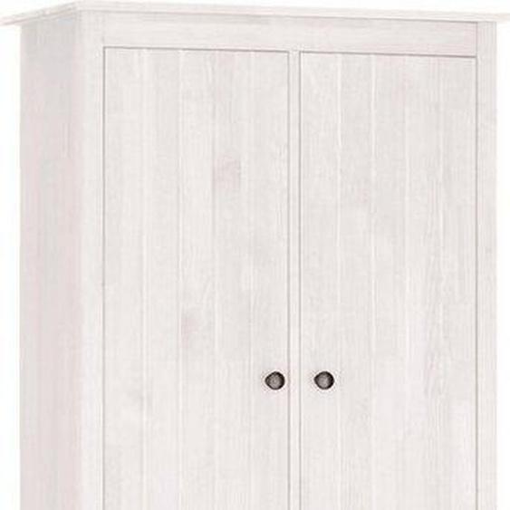 Home affaire Hochschrank »Westa« Breite 62 cm, Badezimmerschrank aus Massivholz, Kiefernholz, Metallgriffe, 4 Türen, 1 Schublade, mit gefrästen Fronten