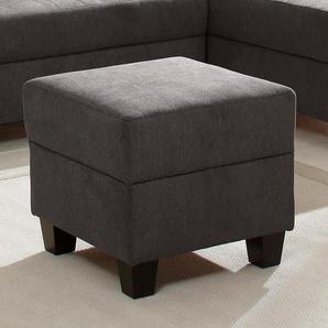 Home affaire Hocker Ethan 0, Struktur fein+weich braun Polsterhocker Nachhaltige Möbel