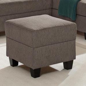 Home affaire Hocker Ethan 0, Struktur weich braun Polsterhocker Nachhaltige Möbel