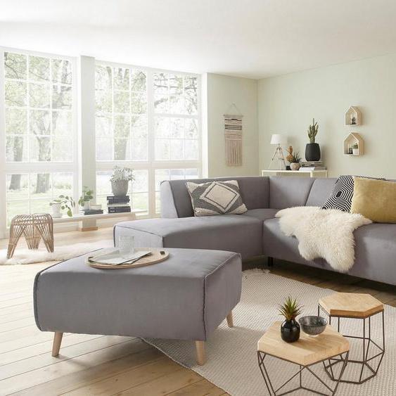 Home affaire Hocker »Julia«, mit Keder und Holzfüßen