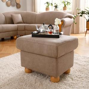 Home affaire Hocker Milano Vintage 0, Microfaser VINTAGE, beige Polsterhocker Nachhaltige Möbel