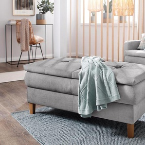 Home affaire Hocker Snap 0, Luxus-Microfaser grau Funktionssessel Sessel