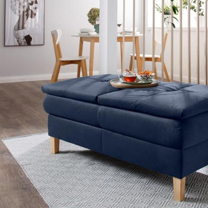 Home affaire Hocker Snap 0, Samtoptik blau Funktionssessel Sessel