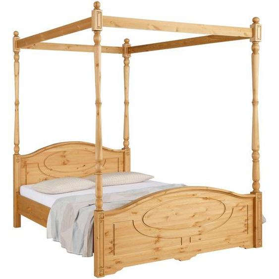 Home affaire  Holz-Bett , Landhaus-Stil, beige »Mila«»Mila«