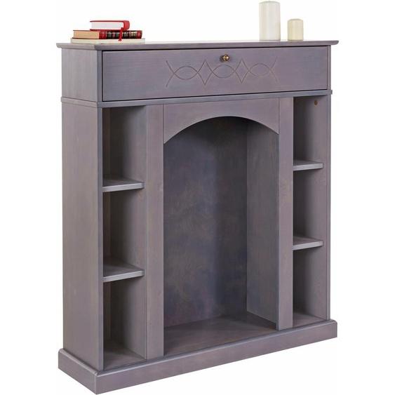 Kaminumbauschrank, FSC®-zertifiziert, Home affaire, grau, Material Holzwerkstoff