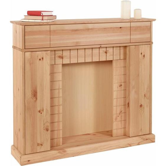 Home affaire  Kaminumbauschrank Breite 110 cm, FSC®-zertifiziert, beige, Push to open-Funktion