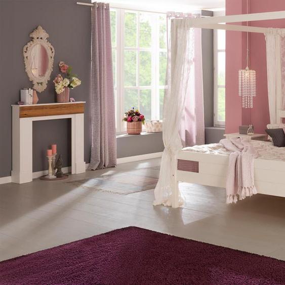 Kaminumbauschrank  Breite 110 cm »Troll 2«, Landhaus-Stil, Home affaire, weiß, Material Holzwerkstoff, Massivholz, MDF, Kiefer