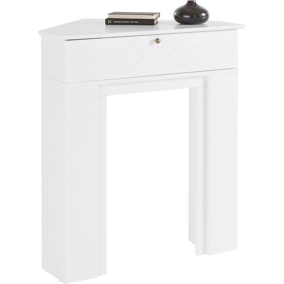 Home affaire  Kaminumbauschrank  Breite 90 cm, FSC®-zertifiziert, weiß »Harper«