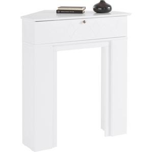 Home affaire Kaminumbauschrank Harper, Breite 90 cm B/H/T: x 100 67 weiß Kaminumrandung Kamin Öfenzubehör Heizen Klima