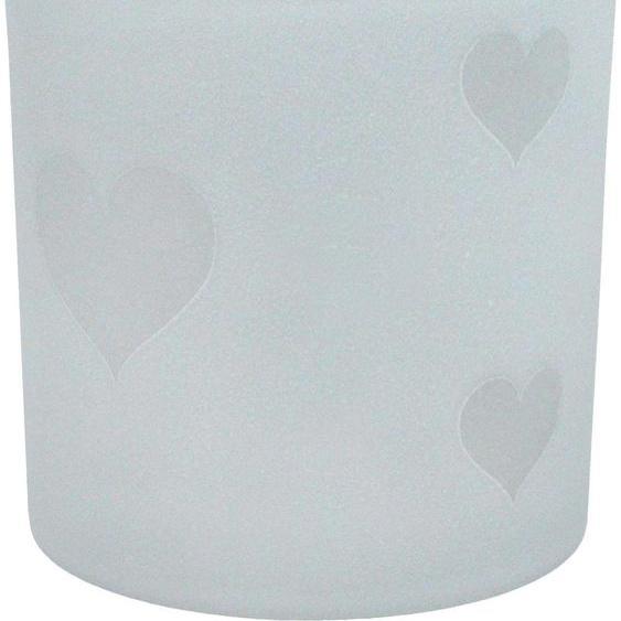 Home affaire Kerzenhalter H: 9 cm weiß Kerzen Laternen Wohnaccessoires