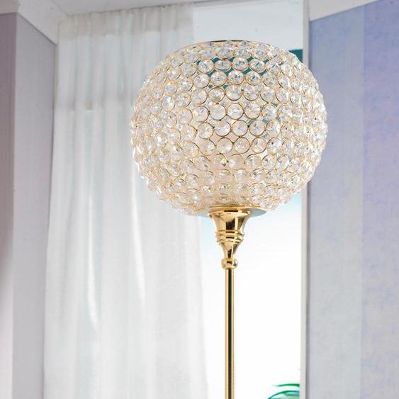 Home affaire Kerzenständer 21x21x70 cm goldfarben Kerzenhalter Kerzen Laternen Wohnaccessoires