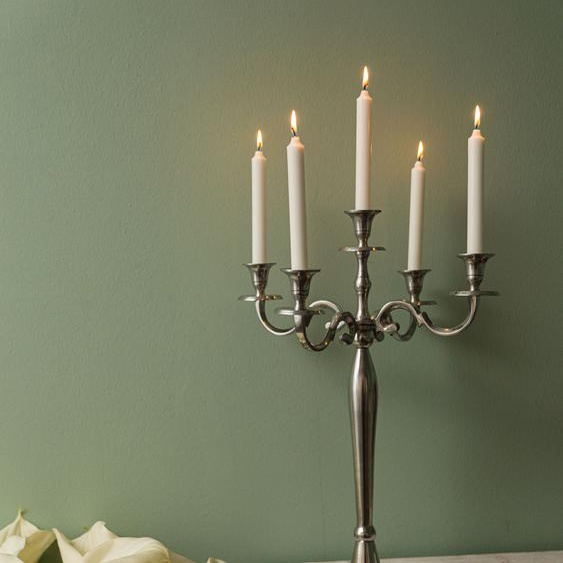 Home affaire Kerzenständer Abha, 5 Kerzen, groß 40x60x40 cm silberfarben Kerzenhalter Kerzen Laternen Wohnaccessoires