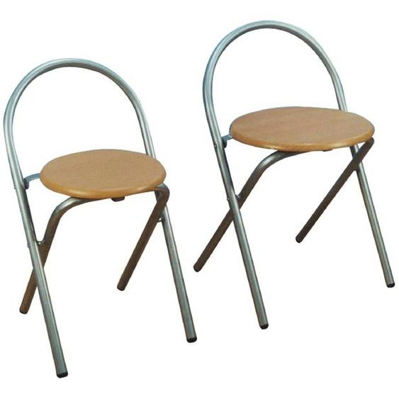 Home affaire Klappstuhl, aus MDF (2er-Set) B/H/T: 38 cm x 66 39 braun Klappstühle Weitere Stühle Sitzbänke Klappstuhl