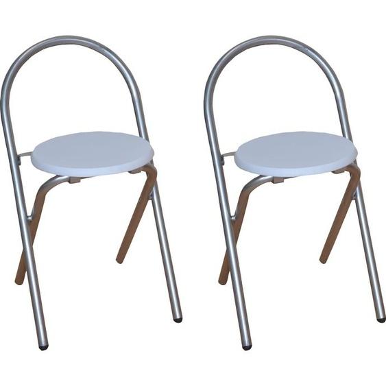 Home affaire Klappstuhl Einheitsgröße weiß Klappstühle Weitere Stühle Sitzbänke