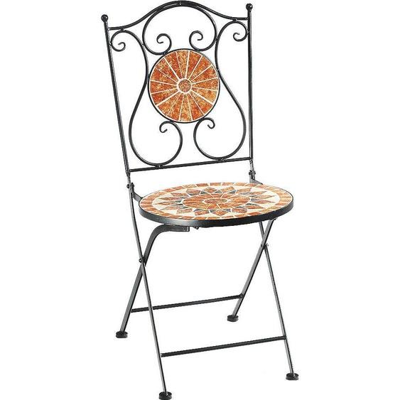 Home affaire Klappstuhl »Metallklappstuhl, Mosaik, nicht frostsicher«, mehrfarbig, Material Metall
