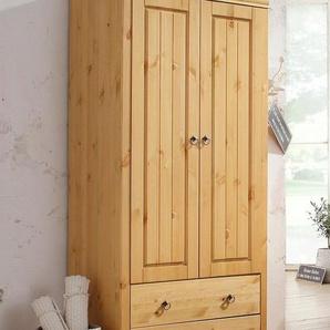 Home affaire Kleiderschrank »Gotland« Höhe 178 cm, mit Holztüren