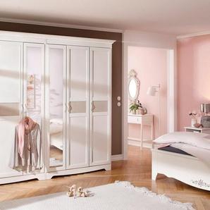 Home affaire Kleiderschrank »Lina« wahlweise 2-, 3-, 4-, 5- oder 6- türig, mit Strukturstoffeinsatz
