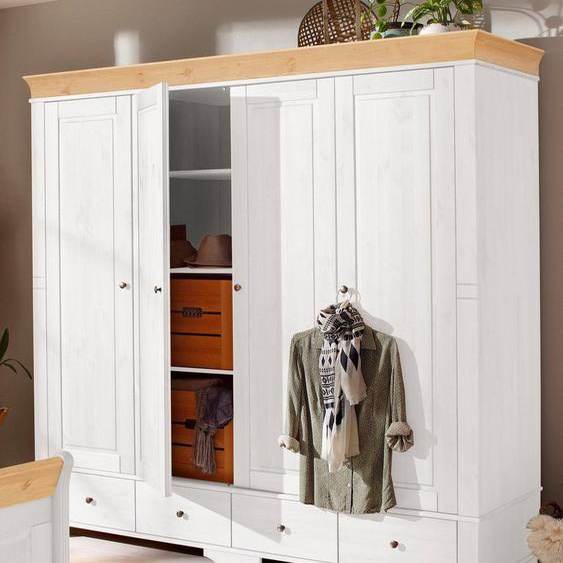 Home affaire Kleiderschrank »Lotta« wahlweise in 4-, oder 5-geteilt, in 2 Farben