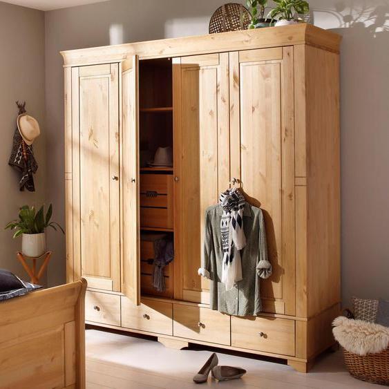 Home affaire Kleiderschrank Lotta, wahlweise in 4-, oder 5-geteilt, 2 Farben Breite 203 cm beige Drehtürenschränke Kleiderschränke Schränke