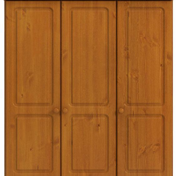 Home affaire Kleiderschrank Richmond, mit 3 Türen und 4 Schubladen, Breite 129 cm B/H/T: x 185 57 cm, braun Drehtürenschränke Kleiderschränke
