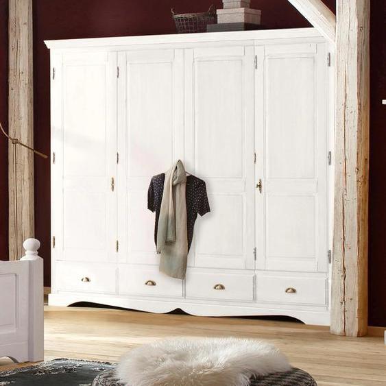 Home affaire Kleiderschrank Teo, in vier verschiedenen Breiten und zwei unterschiedlichen Farben 4-türig weiß Drehtürenschränke Kleiderschränke Schränke
