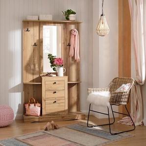 Home affaire Kompaktgarderobe »Norma« mit Spiegel und vielen Ablageflächen