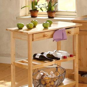 Home affaire Küchenwagen , beige, 80x40x87 cm, geölt, »Dalum«, FSC®-zertifiziert