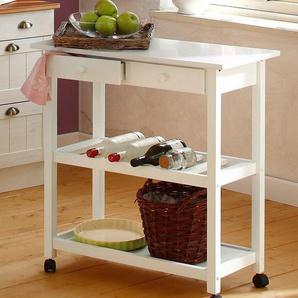 Home affaire Küchenwagen »Dalum«, weiß, 80x40x87 cm, FSC®-zertifiziert