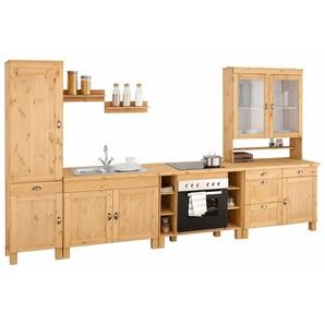 Home affaire Küchenzeile »Oslo«, ohne E-Geräte, Breite 350 cm, 35 mm starke Arbeitsplatte