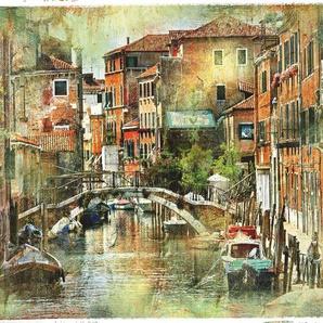 Home affaire Leinwandbild »Venedig, künstlerische Darstellung im Malstil«, 80/60 cm
