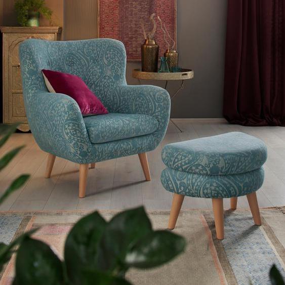 Home affaire Loungesessel Hartland Polyester grün Sessel