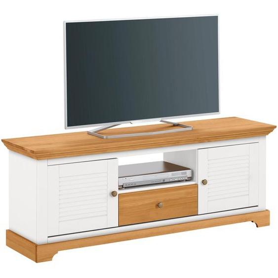 Home affaire Lowboard Ayanna, Breite 140 cm. B/H/T: cm x 53 39 cm, Anzahl weiß TV-Regale HiFi-Regale Regale Kleinmöbel