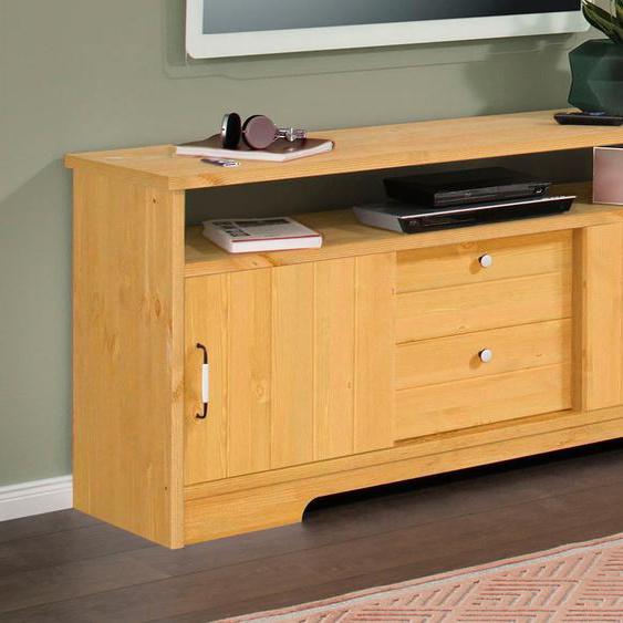 Home affaire Lowboard Paula, aus massiver Kiefer B/H/T: 146 cm x 70 42 cm, Anzahl Schubladen: 2 beige TV-Regale HiFi-Regale Regale Kleinmöbel