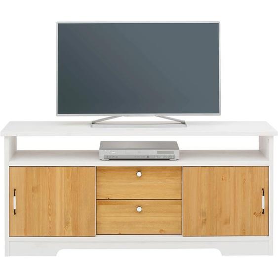 Home affaire Lowboard Paula, aus massiver Kiefer B/H/T: 146 cm x 70 42 cm, Anzahl Schubladen: 2 weiß TV-Regale HiFi-Regale Regale Kleinmöbel