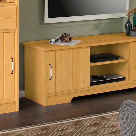 Home affaire Lowboard Paula, aus Massivholz B/H/T: 146 cm x 49 42 cm, Anzahl beige TV-Regale HiFi-Regale Regale Kleinmöbel