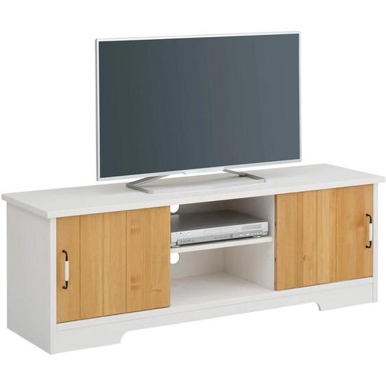 Home affaire Lowboard Paula, aus Massivholz B/H/T: 146 cm x 49 42 cm, Anzahl weiß TV-Regale HiFi-Regale Regale Kleinmöbel