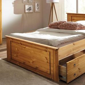 Home affaire Bett »Hugo«, beige, 140x200 cm, FSC-Zertifikat, , , FSC®-zertifiziert