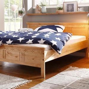 Home affaire Bett mit dekorativen Fräsungen »Indra«, Liegefläche 140/200 cm, FSC®-zertifiziert