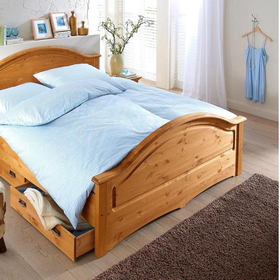 Home affaire Massivholzbett Konrad Liegefläche B/L: 140 cm x 200 cm, Gewicht beige Doppelbetten Betten