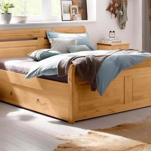 Home affaire Massivholzbett Lotta Liegefläche B/L: 180 cm x 200 Betthöhe: 41,5 cm, kein Härtegrad beige Funktionsbetten Betten Schlafzimmer
