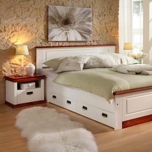 Home Affaire Bett »Madrid«, Liegehöhe 39,5 Cm, Liegefläche 180/200 Cm, Weiß