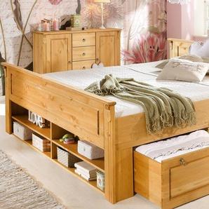 Home affaire Bett »Tessin«, beige, 180x200 cm, mit Schubkästen