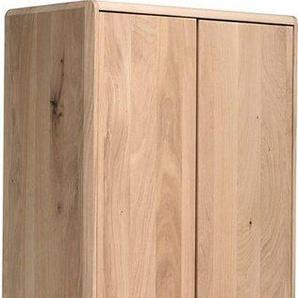Home affaire Mehrzweckschrank »Infinity« aus schönem massivem Holz, mit edlen Holzfüßen und vielen Stauraummöglichkeiten, Breite 60 cm