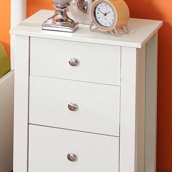 Home affaire Nachtkommode Justin 40x40x60 cm weiß Nachtkonsolen und Nachtkommoden Nachttische Tische Sideboards