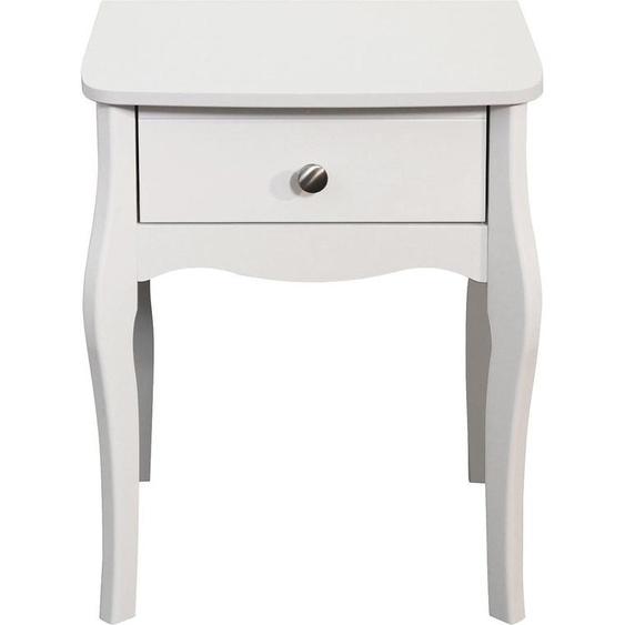 Home affaire Nachttisch, FSC®-zertifiziert, weiß »Baroque«
