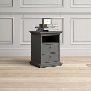 Home affaire Nachttisch »Paris«, grau, Tischplatte: MDF, Gestell: MDF, FSC-Zertifikat, ,