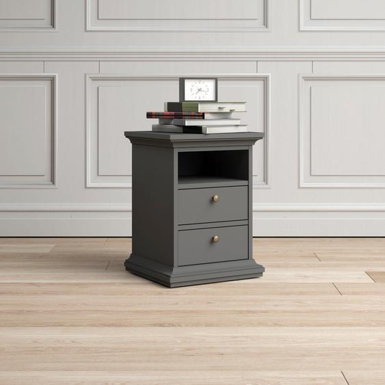 Home affaire Nachttisch Paris Tischplatte: MDF, Gestell: MDF grau Nachtschränke Nachttische Tische Tisch