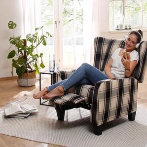 Home affaire Ohrensessel »Alessa«, Landhaus-Stil, schwarz