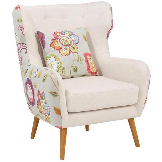 Home affaire Ohrensessel »Missouri«, zweifarbig mit tollem Blumenmuster, bequeme Sitzpolsterung, Sitzhöhe 47 cm