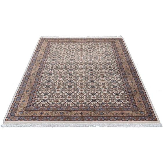 Home affaire Orientteppich Kiara, rechteckig, 12 mm Höhe, handgeknüpft, mit Fransen, Wohnzimmer B/L: 90 cm x 160 cm, 1 St. beige Schlafzimmerteppiche Teppiche nach Räumen